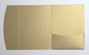 Antique gold metallic pocketfold envelope to fit 5x7 inch