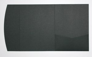 Black pocketfold envelope to fit 5x7 inch