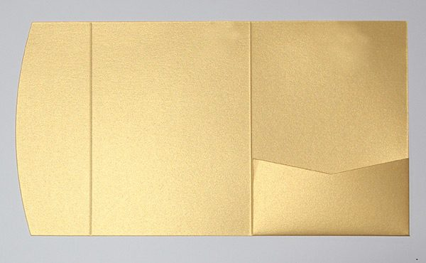Bright gold pocketfold envelope to fit 5x7 inch