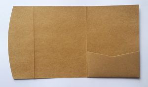 Dark kraft pocketfold envelope to fit 5x7 inch