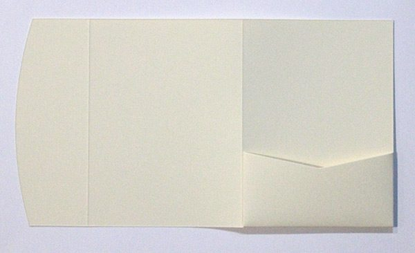 Ivory pocketfold envelope to fit 5x7 inch