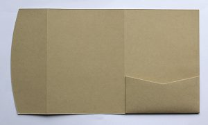 Kraft pocketfold envelope to fit 5x7 inch