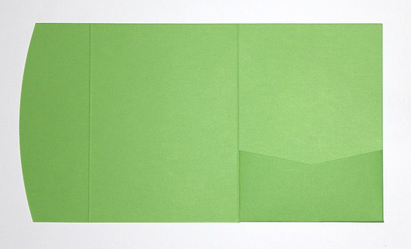 Lime green pocketfold envelope to fit 5x7 inch