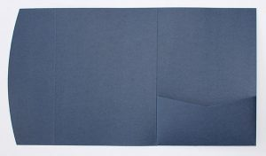 Navy blue pocketfold envelope to fit 5x7 inch