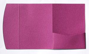 Raspberry pocketfold envelope to fit 5x7 inch