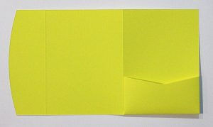 Summer yellow pocketfold envelope to fit 5x7 inch