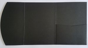 A5 presentation folders - black pocketfold