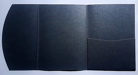 A5 presentation folders - black metallic pocketfold