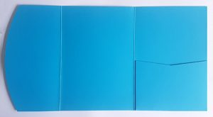 A5 presentation folders - bright blue pocketfold