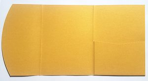 A5 presentation folders - bright gold pocketfold