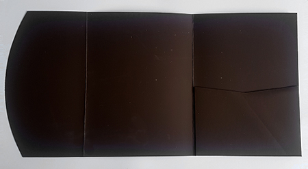 A5 presentation folders - chocolate brown pocketfold