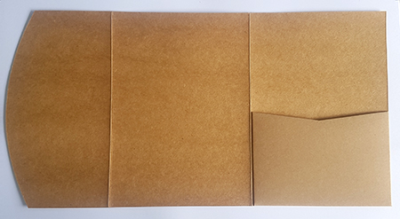 A5 presentation folders - dark kraft pocketfold