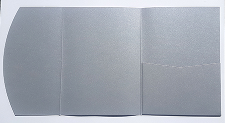 A5 presentation folders - galvanized silver pocketfold