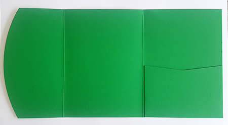 A5 presentation folders - grass green pocketfold