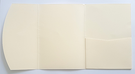 A5 presentation folders - ivory pocketfold