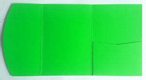 A5 presentation folders - lime green pocketfold