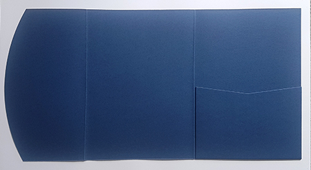 A5 presentation folders - navy blue pocketfold
