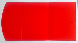 A5 presentation folders - red pocketfold