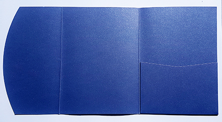 A5 presentation folders - metallic blue pocketfold