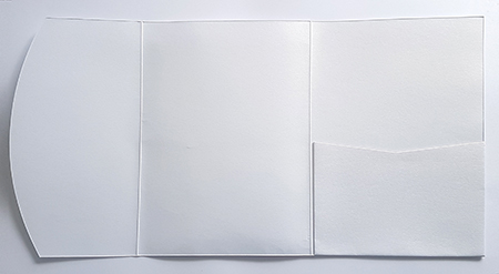 A5 presentation folders - white metallic pocketfold