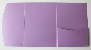 Lilac pocketfold envelope to fit A6 cards