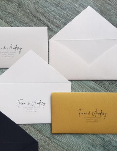 customisable range of envelopes