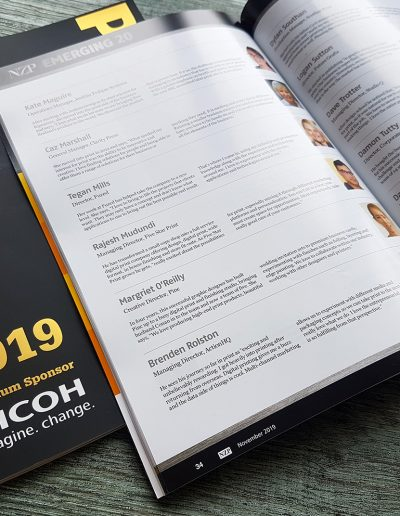 Margriet O'Reilly from Pinc in New Zealand Printer magazine as one of the Emerging 20 for 2019