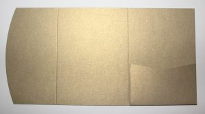 Antique gold pocketfold envelope to fit A6 cards