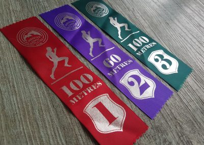 Athletics clubs prize ribbons