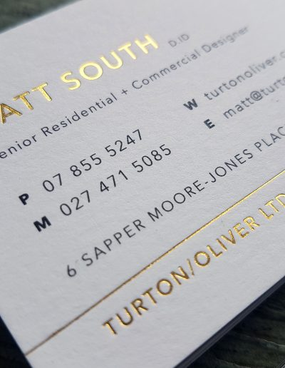 High end business cards printed by Silverdale studio, Pinc