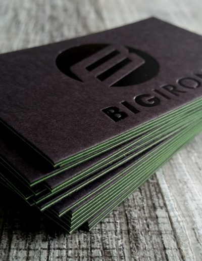 Triplexed cards - black, lime, black for Big Iron