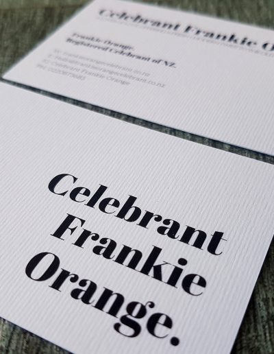 Colour printed text onto a thick white textured card stock