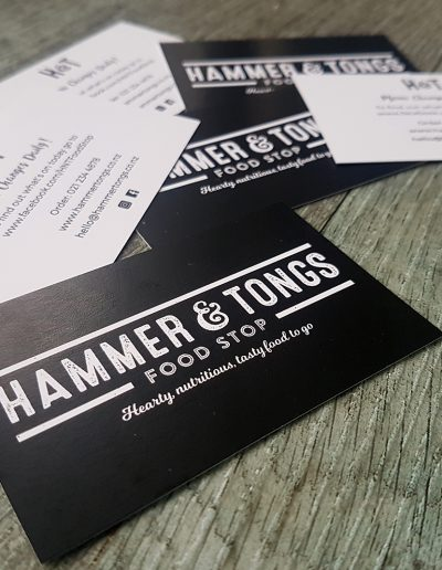 Black and white business card printing