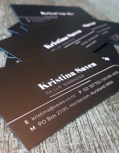 Matt laminate business cards