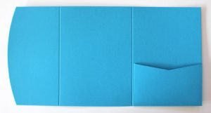 Blue pocketfold envelope to fit A6 cards