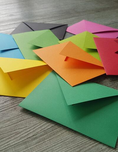 bright coloured range of New Zealand made envelopes