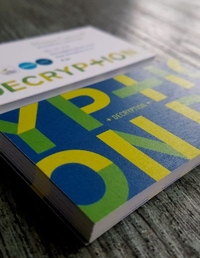 Colour print on thick, textured white business cards for local Auckland business