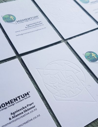 Premium business cards, quality print studio Pinc NZ