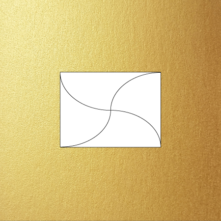 Metallic C7 butterfly envelope