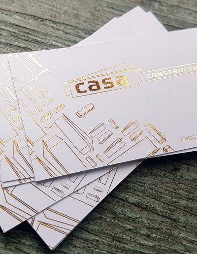 Christchurch business, Casa Construction's business cards