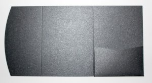 Charcoal metallic pocketfold envelope to fit A6 cards