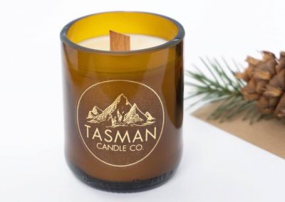 Clear stickers, candle labels for Tasman Candles