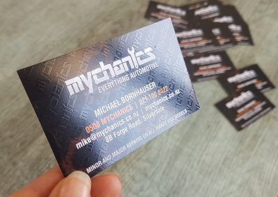 Clear gloss print, spot gloss, uv gloss for Auckland business cards