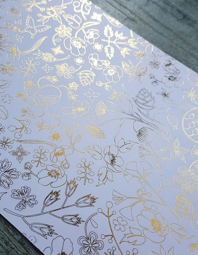 Detail on the back of the Perrier Jouet invitations