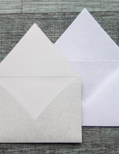 white toner print on nz envelopes