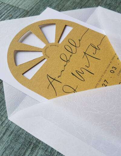custom printed vellum see through envelope