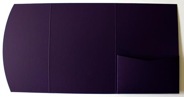 Dark purple A6 pocketfold envelope
