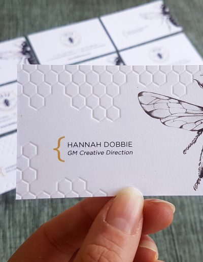 Embossed and debossed business cards NZ