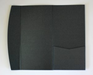 Black DLE pocketfold envelope