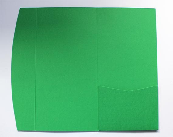 Green DLE pocketfold envelope